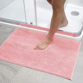 Kúpeľňová predložka s nopkami lososová