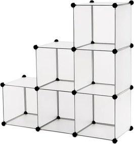 Sconto Regál LPC111S biela/transparentná