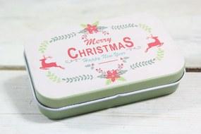 "Plechová krabica ""MERRY CHRISTMAS"" (9,5x2,5x6 cm) 3."