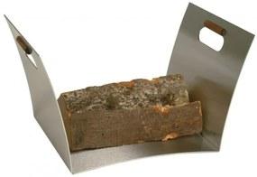 Kôš na drevo Lienbacher - drevené úchytky - čierny
