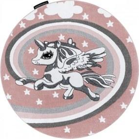 Detský kusový koberec Pony ružový kruh, Velikosti 140cm