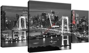 Obraz s hodinami Dúhový most Tokio 80x40cm ZP2390A_3AX