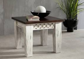 Bighome - ANTIK Príručný stolík 55x55 cm, mango a akácia