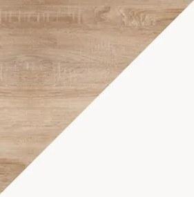 WIP Jednolôžková posteľ KITTY 04 / s roštom Farba: Dub sonoma svetlá / biela