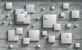 Vliesové fototapety, rozmer 416 x 254 cm, 3D štvorce, IMPOL TRADE 3030 VO XXXL