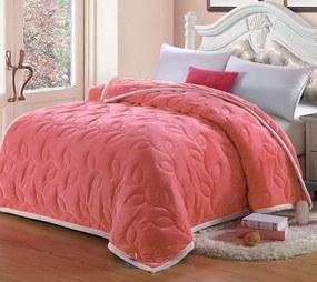 Domarex Prehoz na posteľ Grand Royal 200 x 220 cm Farba: Koralová