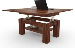 Mazzoni BRAVO s policou, kalifornský orech, rozkladací, zdvíhací konferenčný stôl, stolík