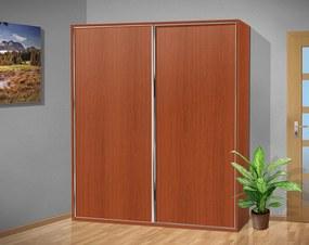 Šatníková skriňa s posuvnými dverami Alfa 33 farba lamina: čerešňa talianská (třešeň italská)