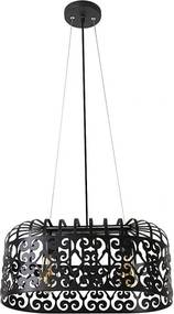 Rábalux Alessandra 2157 Moderné Závesné Svietidlá matný čierny čierny E27 2x MAX 60W