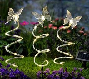 Solárny zápich Motýľ, 3 kusy