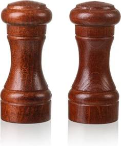 ČistéDřevo Drevená soľnička a korenička - 10 cm tmavé