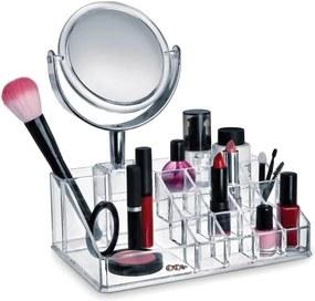 Organizér na kozmetiku so zrkadielkom Domopak Make Up