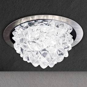 LED svietidlo Cecil krištáľový prvok hliník