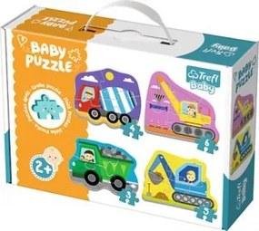 TREFL Baby Vozidla na stavbě 4v1 3 4 5 a 6 dílků