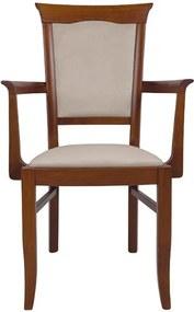 BRW Jedálenská stolička Kent EKRS P Prevedenie dreva Trax: Gaštan, Látka: Tkanina - 1323