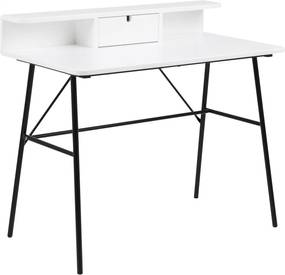 Bighome - Písací stôl PASCAL 100 cm, biela