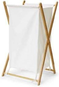 TEMPO KONDELA Avelino kôš na prádlo biela / prírodná
