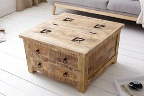 Dizajnový konferenčný stolík Thunder, 70 cm, mango