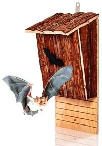 Domček pre netopiere, vtáčia búdka, pomoc pri prezimovaní, celoročne obývateľný, jedľové drevo