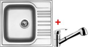 Set Sinks STAR 580 V matný + batéria LEGENDA S Chróm