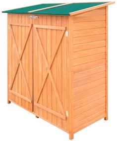 vidaXL Drevená záhradná kôlňa na náradie s veľkým úložným priestorom