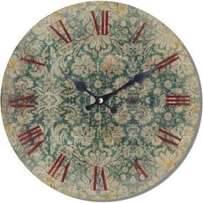 Isabelle Rose Drevené hodiny s dizajnom čipky 29 cm