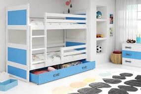 Poschodová posteľ RICO 2 - 200x90cm - Biely - Blankytný