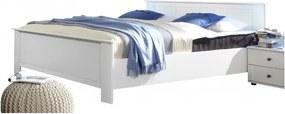Sconto Posteľ CHASE biela, 160x200 cm