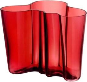 Váza Alvar Aalto 160mm, brusnicová Iittala