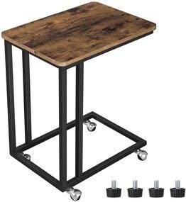 VASAGLE Servírovací stolík na kolieskach 50x60 cm