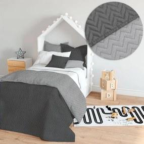 Domarex Prehoz na posteľ Merino Prešívaný Cikcakový Farba: Sivá, Veľkosť: 120 x 200 cm