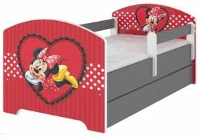 BabyBoo Detská postel Disney s šuplíkom - Minnie Srdiečko, D19 BabyBoo 79467