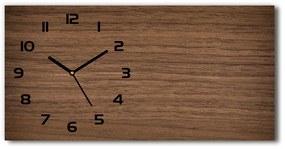 Sklenené hodiny na stenu tiché Drevené pozadie pl_zsp_60x30_f_98717110