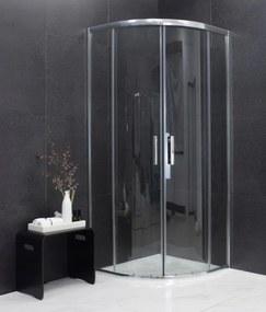 MEXEN RIO - Štvrťkruhový sprchovací kút 80x80 cm, transparentná, 863-080-080-01-00