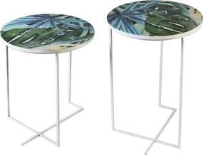 Bighome - Príručný stolík MIAMI 50 cm - viacfarebná