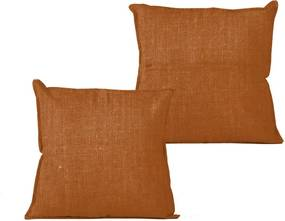 Oranžový vankúš Linen Couture Terracota, 45 x 45 cm