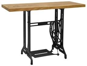 vidaXL Konzolový stolík zo šijacieho stroja 110x40x75 cm