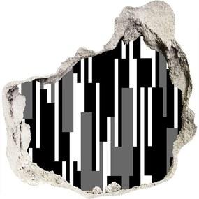 Fototapeta diera na stenu Čiernobiele línia WallHole-75x75-piask-107133288