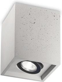 IDEAL LUX Dizajnové stropné betónové svietidlo OAK PL1 SQUARE
