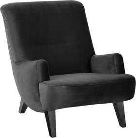 Čierne kreslo s čiernymi nohami Max Winzer Brandford Suede