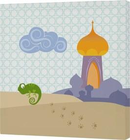Mr. FOX Nástenný obraz Aladdin - palác, 27x27 cm