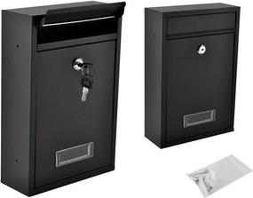 Malatec Poštová schránka na listy, čierna, 6237