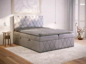 PROXIMA.store - Kontinentálna boxspring posteľ LACASTA - farba na mieru - 120/140/160/180 Veľkosť postele: Pre matrac 140 x 200 cm