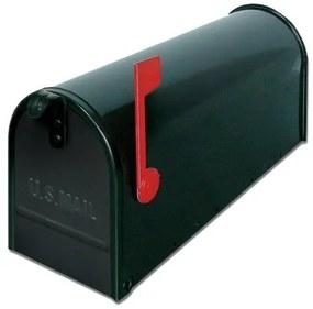 USA1NE - poštová schránka, americká s vlajočkou a stojanom, čierna