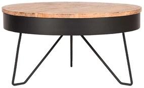 LABEL51 Konferenčný stolík Saran 80x80x43 cm drevo/čierny