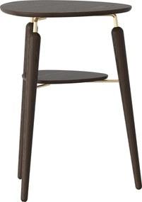 Odkladací stolík My Spot tmavý dub / mosadz - UMAGE