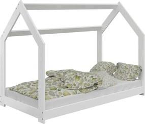 AMI nábytok Dětská postel DOMČEK D2 80x160cm masiv bílá