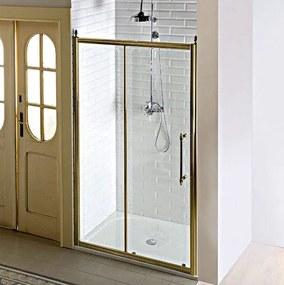GELCO - ANTIQUE sprchové dveře, posuvné,1200mm, čiré sklo s dekorem, bronz (GQ4212
