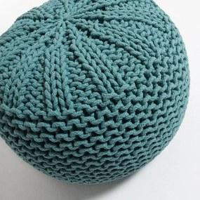 Tyrkysovomodrý sedací puf La Forma Shore, Ø 50 cm