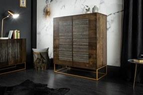 Dizajnová komoda Armani, 100 cm, mango / achát